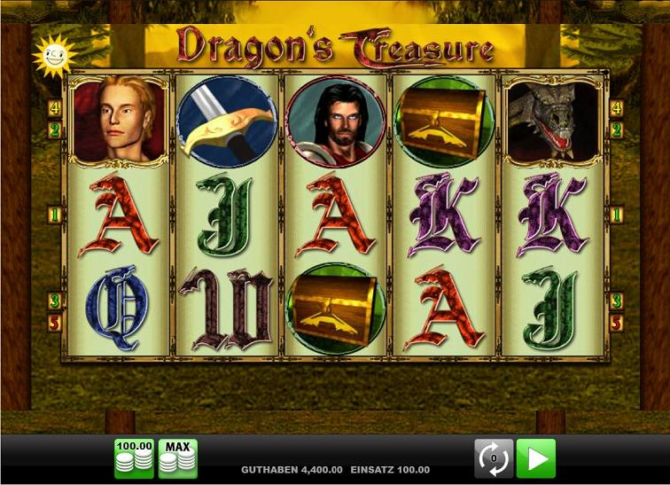 Das Dragon's Treasure Slotspiel