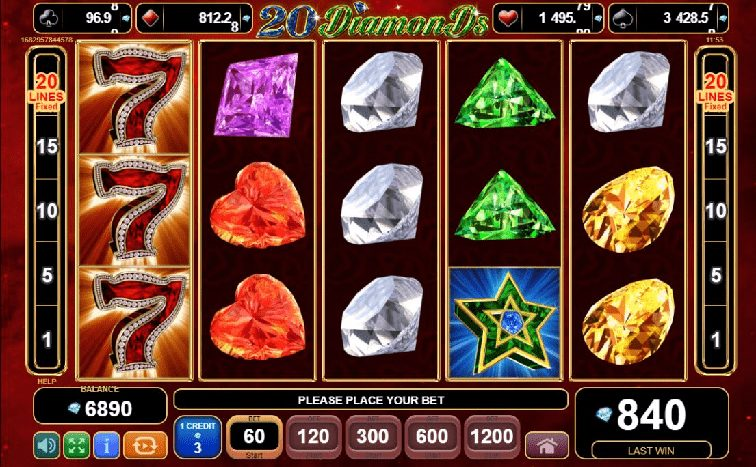 Das 20 Diamonds Slotspiel