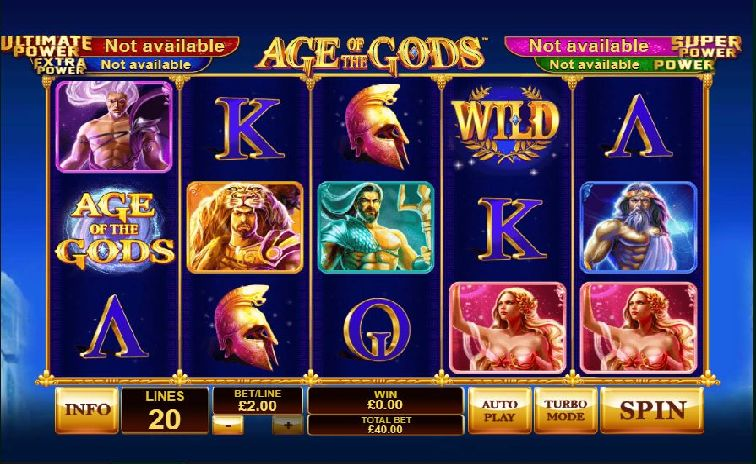 Das Age of the Gods Slotspiel