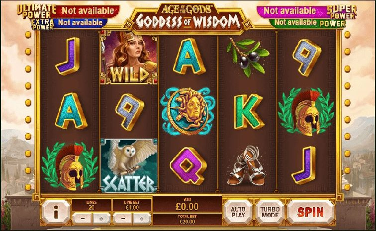 Das Age of the Gods- Goddess of Wisdom Slotspiel