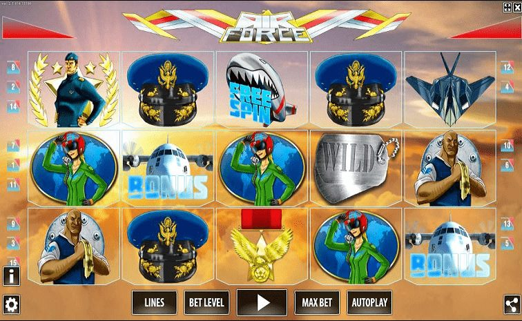 Das Air Force HD Slotspiel