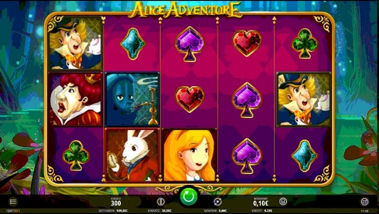 Das Alice Adventure Slotspiel