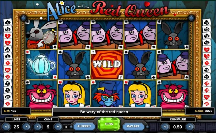 Das Alice and the Red Queen Slotspiel