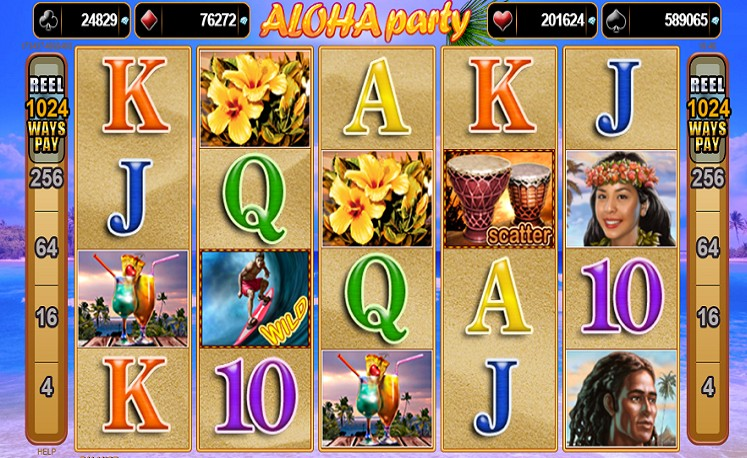 Das Aloha Party Slotspiel