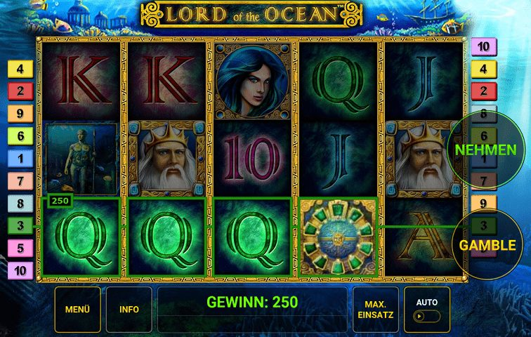 Das Lord of the Ocean Slotspiel